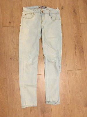 Zara Jeans 7/8 bleu azur