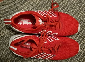 tolle adidas zx flux gr.40,5 rot top zustand