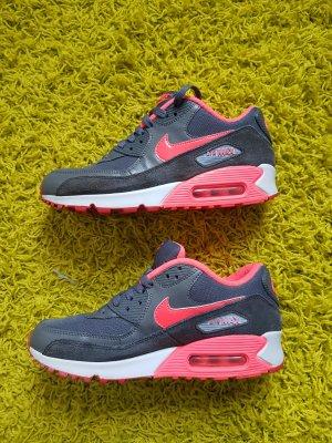 Nike Sneakers dark grey-neon red