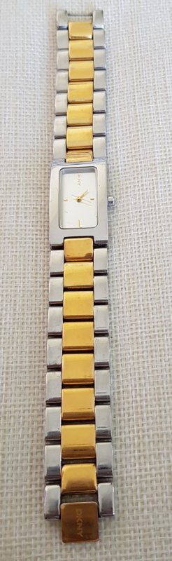 DKNY Horloge met metalen riempje zilver-goud