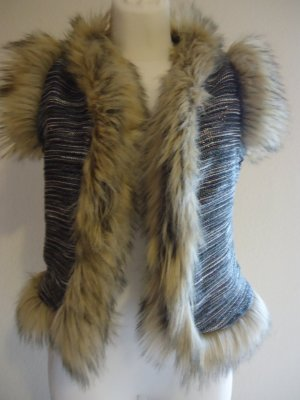 Fur vest multicolored synthetic fibre