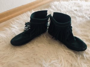 Western Booties dark green