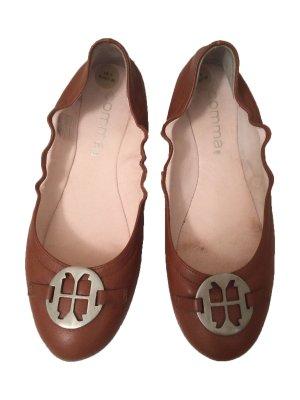 Comma Slingback Ballerinas cognac-coloured leather