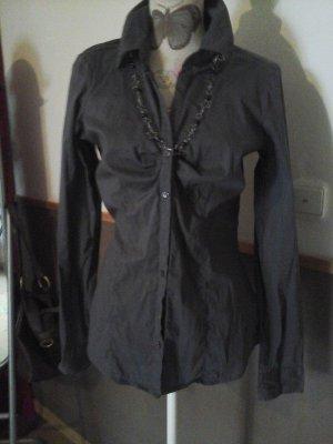 Tolle Basic Bluse Business von Amisu braun Gr. M Top