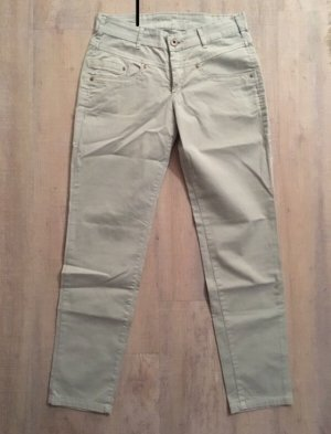 Joker pantalón de cintura baja crema