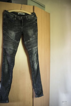 Noisy May Jeans da motociclista nero