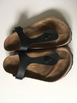Birkenstock Teenslippers zwart-bruin