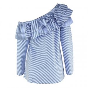 Tolle blau/weiße Bluse Größe M