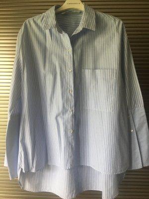 Tolle blauweiß gestreifte Bluse von Zara in L