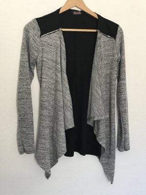 Blazer sweat noir-gris