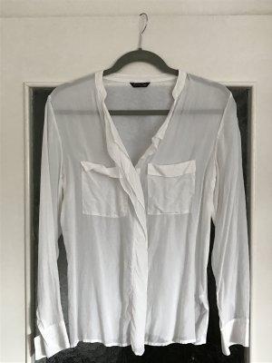 Tolle Bluse aus Seidenmischung von Massimo Dutti. Hinten Baumwolle. Verdeckte Knopfleiste.