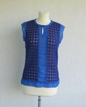Mexx Blusa in merletto lilla-blu Cotone