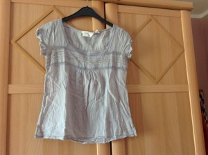 H&M Short Sleeved Blouse silver-colored cotton