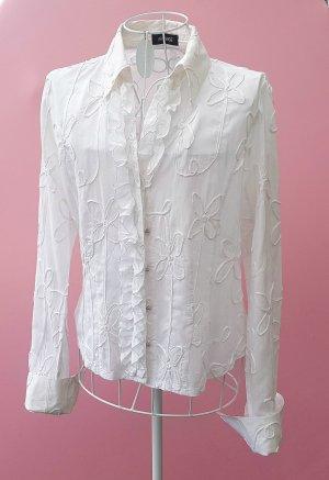 Apanage Blouse à manches longues blanc coton