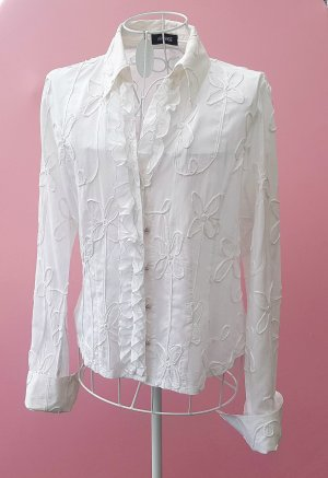 Apanage Long Sleeve Blouse white cotton