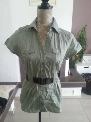 tolle Bluse im Safari-Style mit Gürtel