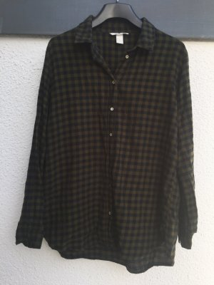 Tolle Bluse (khaki/dunkelblau) von H&M - Größe 42