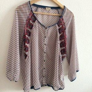 Blusa transparente multicolor Poliéster