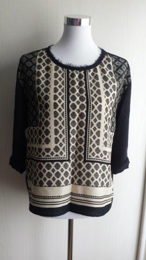 Tolle Bluse mit Muster von Mango Gr M