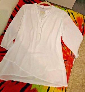 Canda Slip-over blouse wit Gemengd weefsel