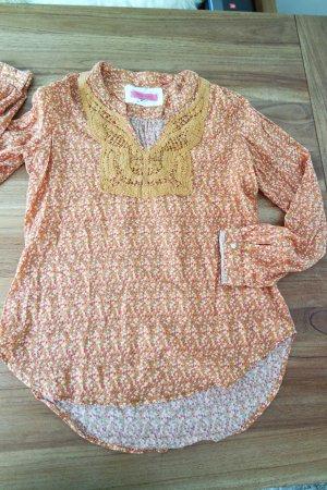 Tolle Bluse von Emily Van den Bergh in Kürbis/Orange - Ethno - Style