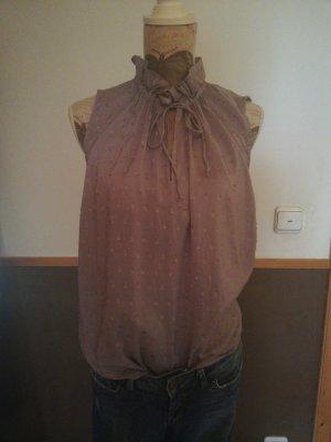 H&M Blouse Top grey lilac-mauve