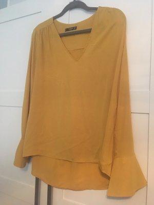 Mango Blusa de manga larga amarillo