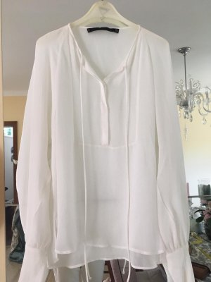 Zara Blusa de túnica blanco