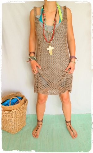 Robe Hippie marron clair