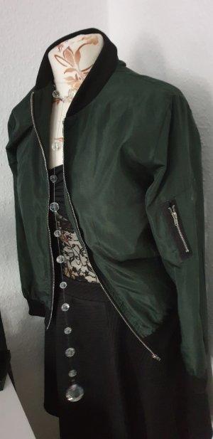 Blouson aviateur vert foncé