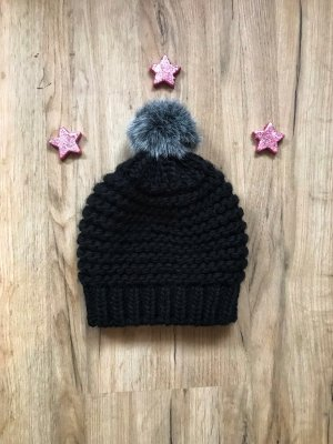 Street One Knitted Hat black-grey