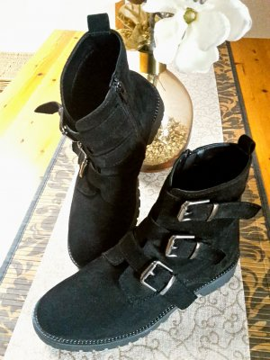 Graceland Ankle Boots black-silver-colored