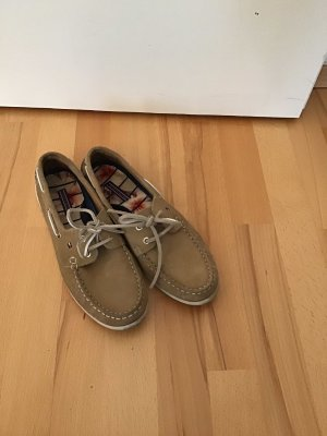 Tommy Hilfiger Sailing Shoes beige leather
