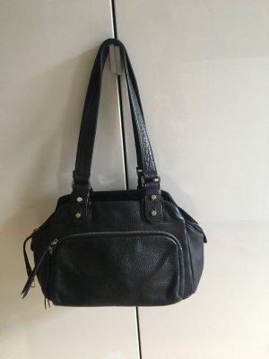 Tolle Bree Handtasche schwarz - ganz dickes Leder