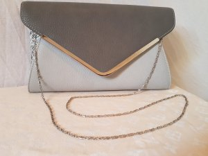 Tolle BULLAGI Big Clutch in Grau mit Silberapplikation