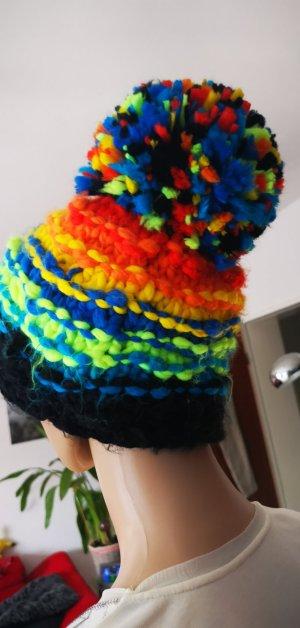 Tolle bunte Mütze von Ziener warm, kuschelig. Gr S / M