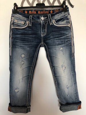 Rock Revival 3/4-jeans blauw-wit