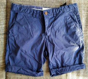H&M Pantalon capri bleu foncé