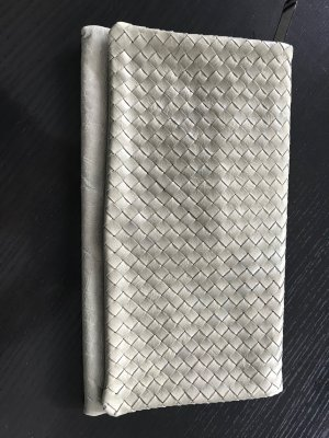 abro Borsa clutch grigio-verde Pelle