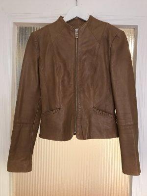 tolle cognacfarbene Lederjacke von Mango - nur 1x getragen