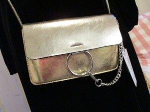 tolle Crossover Crossbody Umhängetasche Tasche Gold & Silber NEU