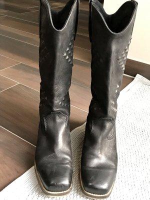 Tolle echt Leder Boots fast neu 40 Cowboy Stiefel cowboystiefel