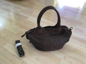 tolle Echtleder Handtasche von Liebeskind braun-schwarz, cross over tragbar, wNEU