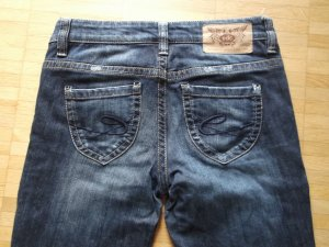 Tolle EDC by Esprit Five Slim Jeans Gr. 27/32 Blau Used Top Zustand