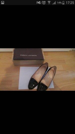 Enrico Antinori Chaussure à talons carrés brun