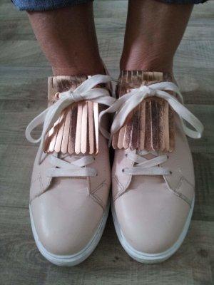 Tolle Even &Odd Sneaker rosa mit Bronze Haferlasche zum abnehmen 41