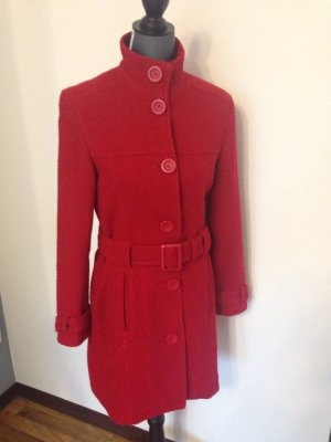 Tolle Farbe! Roter Strick-Mantel von s.oliver Gr. 36