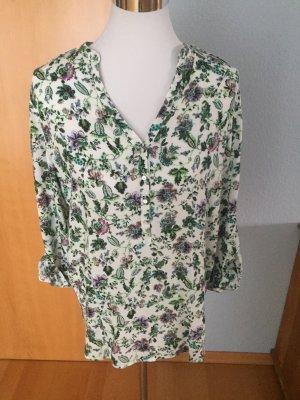 tolle farbenfrohe  Blümchen-Bluse, Größe L