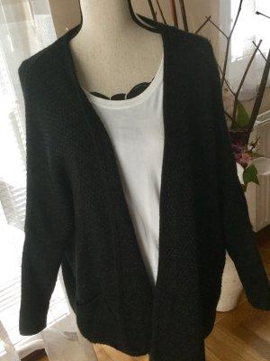 100% Fashion Gebreide cardigan zwart
