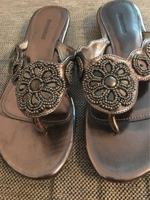 Graceland High-Heeled Toe-Post Sandals grey